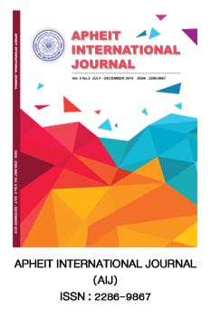 APHEIT INTERNATIONAL JOURNAL (AIJ) ISSN : 2286-9867